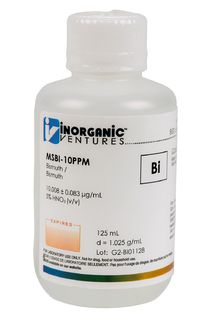 Inorganic Ventures MSBI-10PPM-125ML 10 ug/mL Bismuth Standard