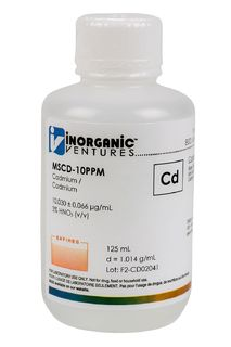 Inorganic Ventures MSCD-10PPM-125ML 10 ug/mL Cadmium Standard