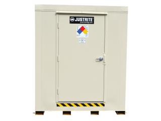 JUSTRITE 912020 2-Hour Fire-Rated Outdoor Safety Locker, 2-Drum