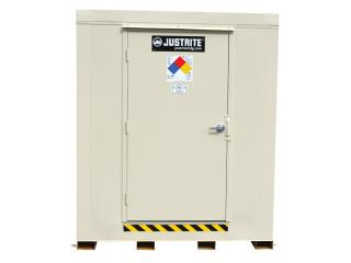JUSTRITE 912040 2-Hour Fire-Rated Outdoor Safety Locker, 4-Drum