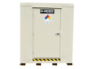 JUSTRITE 912041 2-Hour Fire-Rated Outdoor Safety Locker, 4-Drum, Explosion Relief Panels