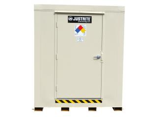 JUSTRITE 912121 2-Hour Fire-Rated Outdoor Safety Locker, 12-Drum,  Explosion Relief Panels