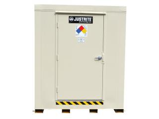 JUSTRITE 912161 2-Hour Fire-Rated Outdoor Safety Locker, 16-Drum,  Explosion Relief Panels