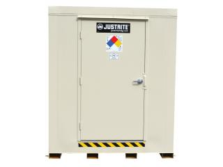 JUSTRITE 913120 4-Hour Fire-Rated Outdoor Safety Locker, 12-Drum