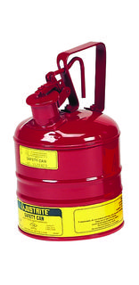 Justrite Manfucturing Company 10301 Type I Safety Can w/Trigger-handle for flammables, S/S flame arr