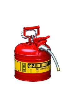 Justrite Manfucturing Company 7220120 Type II AccuFlow™ Steel Safety Can for flammables, 2 gal