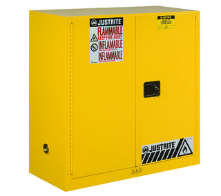 Justrite Manfucturing Company 893000 Sure-Grip® EX Flammable Safety Cabinet, Dims. 44H, Cap. 30