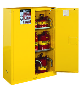 Justrite Manfucturing Company 894520 Sure-Grip® EX Flammable Safety Cabinet, Cap. 45 gallons, 2