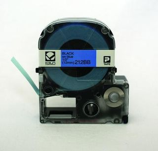 K-SUN CORPORATION 212BB LABEL 1/2BLACK ON BLUE TAPE