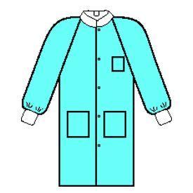 Kimberly-Clark Professional 10030 BASIC* Plus Lab Coat, Knit Collar & Cuff, 5 Snaps, 3 Pockets,