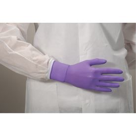 Purple Nitrile* Exam Gloves, Latex-free, 6mil, 100/BX, 10BX/CS, LG