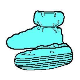 Kimberly-Clark Professional 69253 Ankle Gueard* Shoe cover, Elastic Ankle, Univ., 90/PK, 3PK/CS