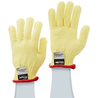 Lakeland 21-290M 100% Kevlar Knit Cut Glove, 7 gauge, Cut Level 4, Heavyweight, Yellow, MD