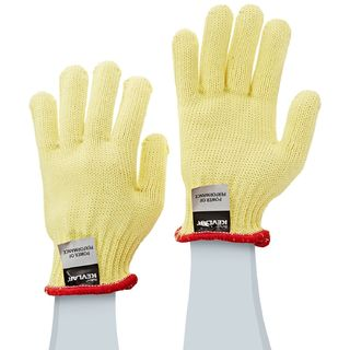 Lakeland 2300M 100% Kevlar Terry Seamless knit glove, ANSI Cut Level 3, Yellow, MD