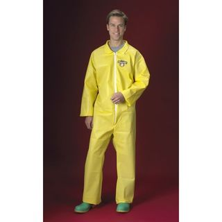 Lakeland C5412-4X ChemMax 1 Coverall, Collar, Serged seam, Open Wrists & Ankles, Yellow, 4X