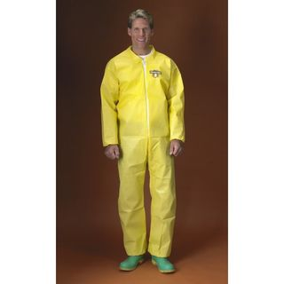 Lakeland C55417-LG ChemMax 1 Coverall, Collar, Bound Seam Elastic wrist & ankles, Zipper, Yellow
