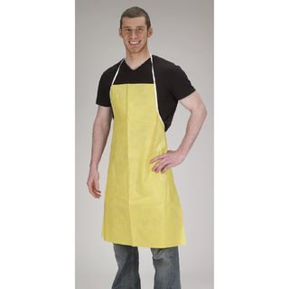 Lakeland C650 ChemMax 1 Apron, Serged seam, Apron, sewn ties, Yellow, 28in X 36in