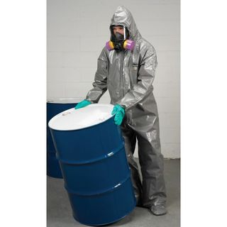Lakeland Industries C3T165-LG ChemMax 3 Coverall, Hood & Boots (respirator fit), Taped Seam, fla