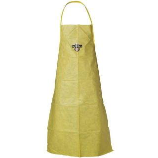 Lakeland Industries C70735 ChemMax 1 Apron, Taped Seam,  Ties at neck and Waist, Yellow, 26in x 36in