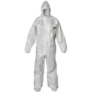 Lakeland Industries C72165-LG ChemMax 2 Coverall, Hood & Boots, (Respirator Fit) Taped Seam, Ela