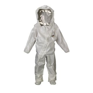 Lakeland Industries C72440-4X ChemMax 2 TES Encapsulated Suit (Level B), Front Entry, Taped Seam, Wh