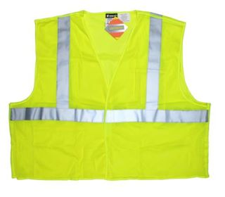 MCR Safety CL2MLPFRL FIRE RESISTANT CLS II FLUORESCENT  LIME POLY MSH