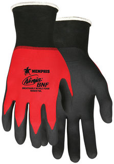 MCR Safety N96970XXL NINJA BNF 18 GA  RED NYLON/SPAN SHELL  BLACK BRE
