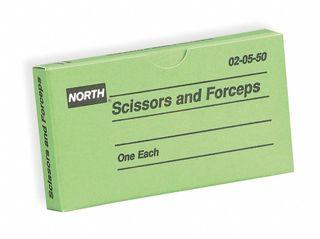 NORTH SAFETY 020550 (10/BX)(10BX/CS) FORCEPSAND SCISSORS
