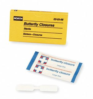 NORTH SAFETY 020566 (10/BX)(10BX/CS) BUTTERFLY CLOSURE 16 PER UNIT