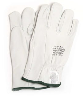 "National Safety Apparel DWH10L8 10"" Leather Glove Protectors (Size 8)"