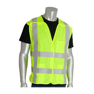 PIP - Protective Industrial Products 305-5PVFR Class 2 Treated Poly, Brkwy Solid Vest, H&L Closu