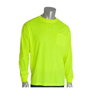 Non-ANSI, Long Sleeve T-shirt, Crew Neck, Chest Pocket, LY, 4X