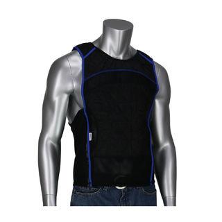 EZ-Cool Evap. Cooling Tank Top Shirt, Zipper Closure, Black, XL
