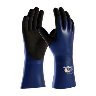 MaxiDry Plus, Nylon/Lycra Liner, Bl./Blk. Nitrile, Full Coat, 12 In., XL