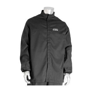 PIP 9100-52750/3XL 100 Cal FR Jacket, Multi Layer, Cotton, NFPA 70E/ASTM F1506, Navy, 3X