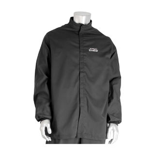 PIP 9100-52750/4XL 100 Cal FR Jacket, Multi Layer, Cotton, NFPA 70E/ASTM F1506, Navy, 4X