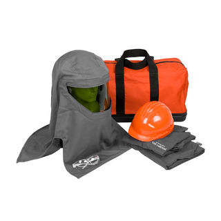 PIP 9150-52730 100 Cal Kit, Jacket, Overalls, Hard Hat, Hood, Bag, Safety Glasses, LG