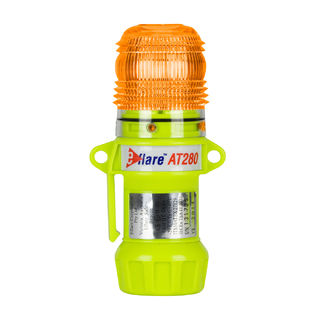 """PIP 939-AT280-A Compact, Amber, Flash or Steady-On 1-Color, 8 LED, Four """"AA"""" Batteries"""
