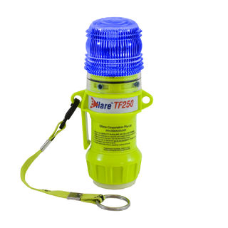 """PIP 939-TF250-B-ASY Railroad Safety, Compact 6""""H, Blue, Flashing 1-Color 4 LED, Mag Base"""