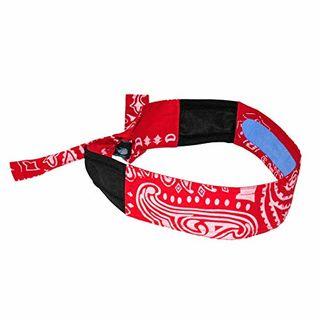 Radians RCS107 Headband, Cooling Red Paisley