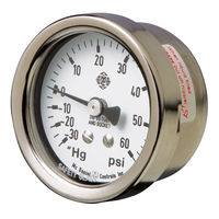"Restek 24100 –30"" Hg/15 psi Vacuum/Pressure Gauge, 30"" to 15 psig compound 1/8"""