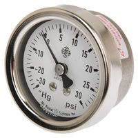 "Restek 24104 –30"" Hg/30 psi Vacuum/Pressure Gauge, 30"" to 30 psig Compound 1/8"""