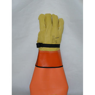 "SALISBURY LP3S Leather Protector Glove Domestic Cowhide 12"" Length LP3S"