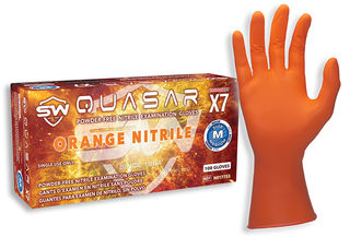 Quasar® X7 Nitrile Powder-Free Exam Gloves, 100/Box, 10 Box/Case, M