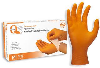 Color-Q® Nitrile Powder-Free Exam Gloves, 100/Box, 10 Box/Case, XS