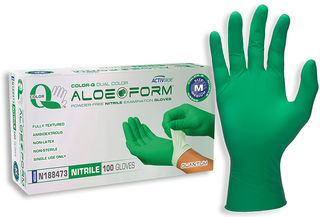 SW Safety Solutions N188474 Color-Q® Aloe Nitrile Powder-Free Exam Gloves, 100/Box, 10 Box/Case,