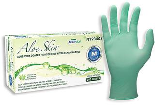 SW Safety Solutions n193403 AloeSkin Soft Powder-Free Nitrile Exam Glove, 200/Box, 10 Box/Case, M