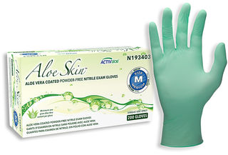 SW Safety Solutions n193405 AloeSkin Soft Powder-Free Nitrile Exam Glove, 200/Box, 10 Box/Case, XL