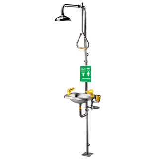 Speakman SE-623 Select Series SE-623 Combination Stainless Steel Emergency Shower with Stainless Ste