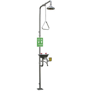 Speakman SE-625-SS Traditional Series SE-625-SS Combination Stainless Steel Emergency Shower with St
